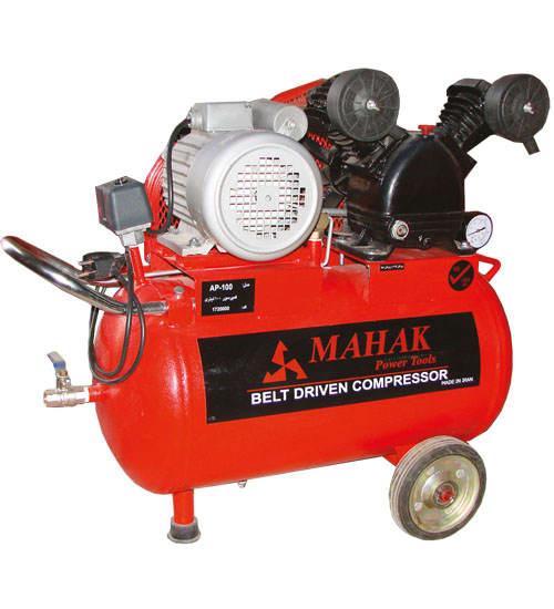 کمپرسور 100 لیتری 220 ولت، 8 بار ، 1 اسب بخار، مخزن 80 لیتری محک AP-101