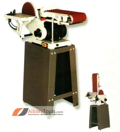 ماشین سنباده نواری 150 میلیمتر و  دیسک 230 میلیمتر 550 وات پایه دار محک BDS-230