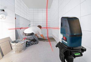 استفاده از لیزر متقاطع جهت کاشیکاری و سرامیک کاری دیوار و کف